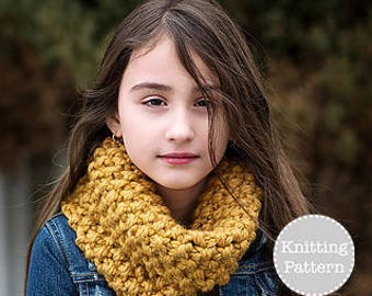 Knitting Pattern - Chunky Cowl