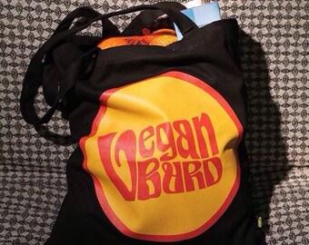 Vegan Burd Black Tote Bag