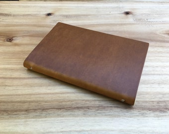 Leather Notebook - Tan - for Moleskine / Field Notes
