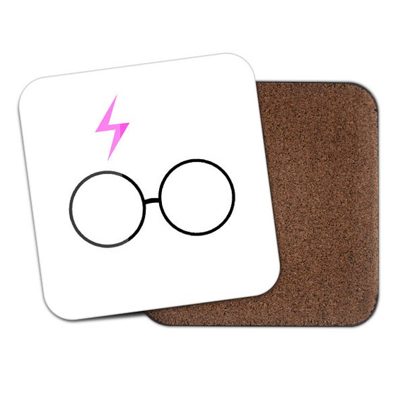 Harry P inspired white scar and glasses coaster - Cute coaster 2S003
