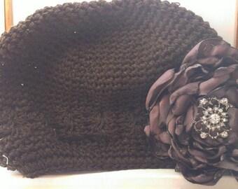 SALE Satin flower Hat