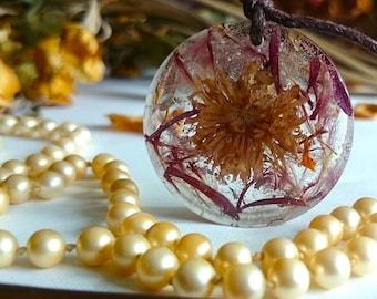 "SALE ON - Flower fairy garden handmade pendants "" A Moment to Ponder """