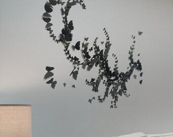 3d butterfly wall art 188PCS Shaded Effect Ombré Effect DIY Wall Sticker Home Wedding Room Art Decor Home Decoration Black
