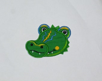 Embroidered Iron On Applique- Ally Alligator