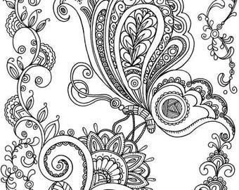 On a Flower - Printable Adult Coloring Page from Favoreads (Coloring book pages for adults and kids, Coloring sheets, Coloring designs)