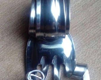 Handmade fork stainless steel pendant