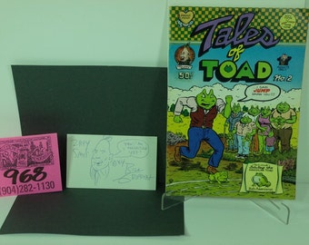 Tales of Toad/Zippy Underground Artist Bill Griffin set:Comix,Signed card with original sketch