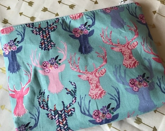 Floral Deer Be Prepared Pouch