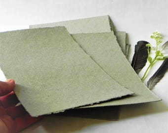 Gray recycled paper sheets, writing, drawing paper, scrapbook, card, note paper, craft paper, paper goods, ecofriendly paper