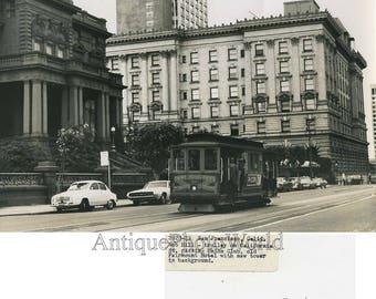 San Francisco California Knob Hill trolley art photo