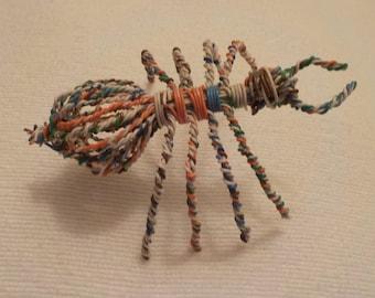 Wire Art Sculpture - Spider Sculpture - Folk Art - Prison Craft