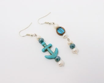 Back to Beach unique uneven ear ring