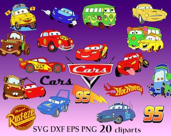 Cars Svg, cricut cars, Disney Cars Svg, Cut Files, Lightning McQueen, cricut files, svg shirts, disney clipart, disney svg, svg mug,cars png