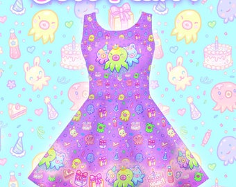 "Purple ""OctoParty"" Dress"