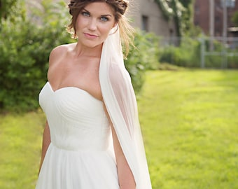 Ivory Silk Tulle Veil - Elbow, Fingertip, Chapel, Cathedral Length - Pippa - Bridal Wedding veil