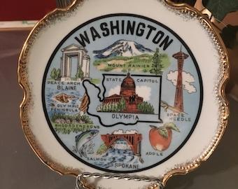 Washington state souvenir plate