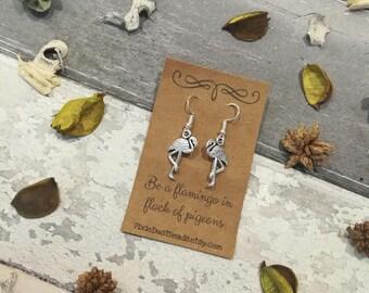 Flamingo Earrings, Flamingo Dangle Earrings, Flamingo Charm, Flamingo Jewellery, Flamingo Gift, Flamingo Party, Bird Earrings, Drop Earrings
