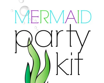 Mermaid Birthday Party Kit!  Birthday Party in a Box! Under the Sea Mermaid party supplies