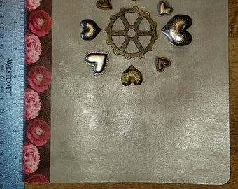 Embellished moleskin journal