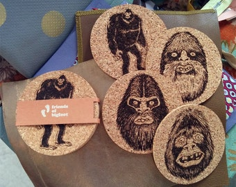 Bigfoot Coaster 4-pack Set 1