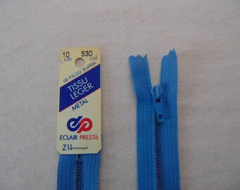 Zip closure, metal, blue Florida (Z11 530)