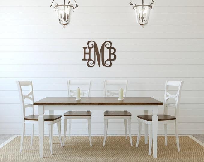 Classic Vine Monogram, Wooden Monogram, Wedding Monogram, Wedding Decor, Wall Monogram, Door Monogram, Wooden Letter
