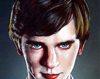 "Print 8x10"" - Norman Bates - Bates Motel Young Thriller Horror Suspense Drama Psycho Freddie Highmore Serial Killer Mom Oregon Vintage Pop"