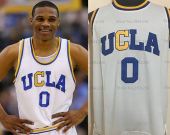 d0c5602f8c45 Russell Westbrook UCLA College Jersey OKC Thunder Brodie Bruins White  Throwback