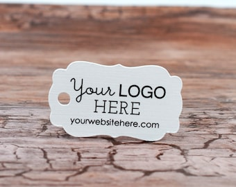 "150 tags - 1.5""x0.8"" - Customized Ornate Cut Small Price Tags Jewelry Hang Tags Labels 
