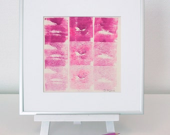 Abstract image 2, neon pink-Rosa, original, mixed media, acrylic, modern, for her, for him, home decode, type, #christmas, #Weihnachten