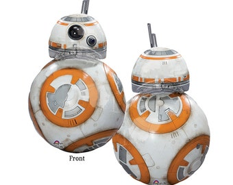 Star Wars Party, The Force Awakens BB8 Balloon, Star Wars Movie Party,  R2D2, Star Wars Party Favors, Star Wars Party Decor, Large Balloons