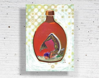 Bottled Halibut Metal Print