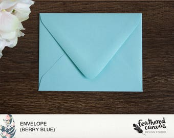 Berry Blue Envelopes