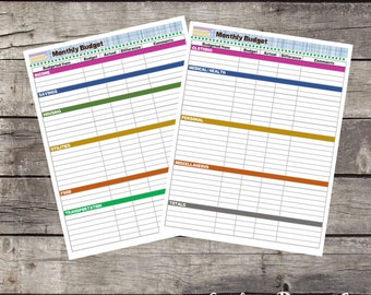 The EASY Life Organizer Package - 7 Pages - Budget and Bill Pay - Instant Download