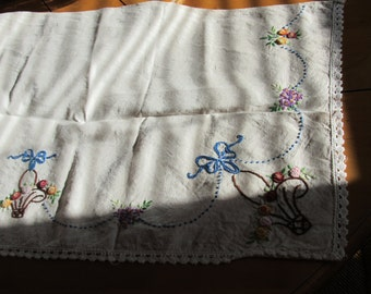 Vintage French Embroidered Mantle Adornment
