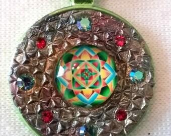 Geometric, Mandala, Green, Re, Mosaic Art, PA-147