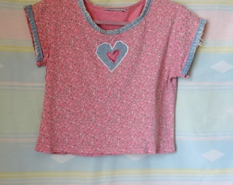 Hollow Heart refashioned 90's vintage tee