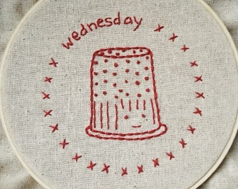PDF Embroidery Pattern - Chores of the Week