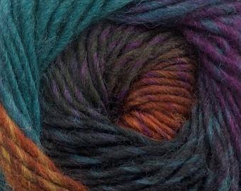 Marvelous Pure Wool - Teal Blue, Purple, Black, Copper #43064 Ice Self-striping Feltable All Wool Yarn 50gram 109yd Felt Knit Crochet Weave