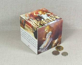 Alice au pays des merveilles tirelire avec Option personnalisée et emballage cadeau offert!