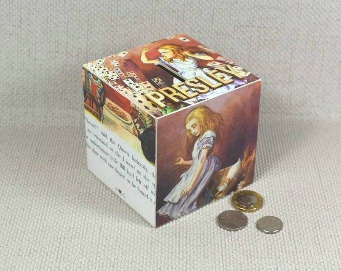 Featured listing image: Personalised Alice in Wonderland Money Box