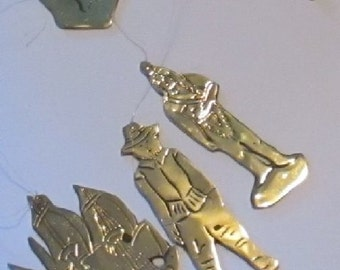 Vintage Brass Points of View Pikware Plymouth Mass Wind Chime