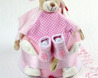 Snuggles nappy cake