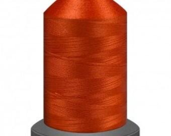 Orange thread, quilting thread, sewing machine thread, glide thread, sewing thread, 1000m cone, firestorm thread, polyester thread