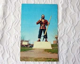 Paul Bunyan Statue Bangor Maine Postcard, Vintage Bangor
