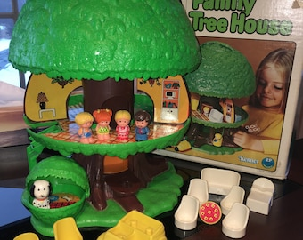 1976 Kenner Family Tree House featuring TreeTots Accessories & Original Box.
