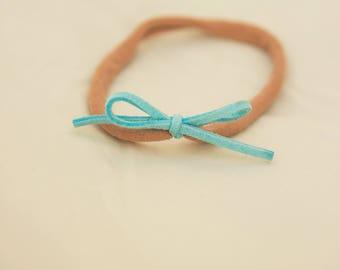 Baby Blue Nylon Headband
