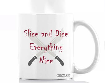 Slice and Dice Halloween Coffee Mug