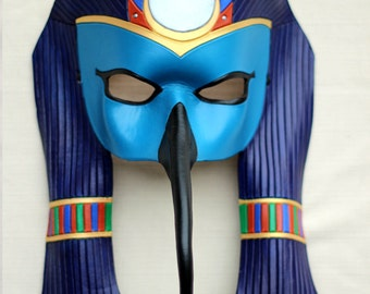 Made To Order:  Egyptian Thoth Leather Ibis Mask