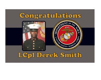 Congratulatory or Welcome Home MARINES Banner
